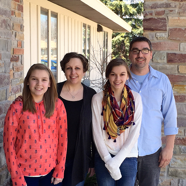 The Stantons (L to R): Abigail, Sallee, Olivia and Jeremy.