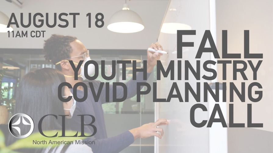 Fall Youth Ministry Webinar